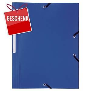 Gummizugmappe Lyreco A4, 24x32 mm, blau