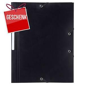 Gummizugmappe Lyreco A4, 24x32 mm, schwarz