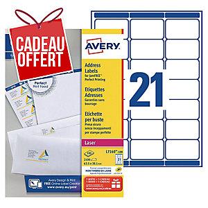 Etiquettes Laser Avery Ultragrip L7160 635 X 381mm