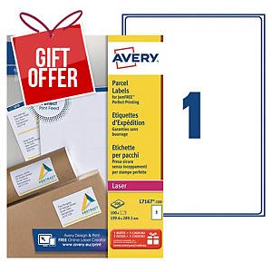 Avery L7167 laser labels Jam Free 199,6x289,1mm - box of 100