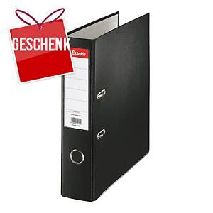 Esselte Economy Standardordner, halbplastisch, Rückenbreite 7,5 cm, schwarz