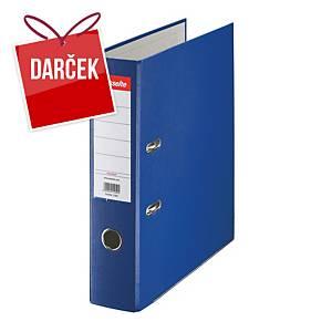 Pákový zakladač Esselte Economy, poloplastový, šírka chrbta 7,5 cm, modrý