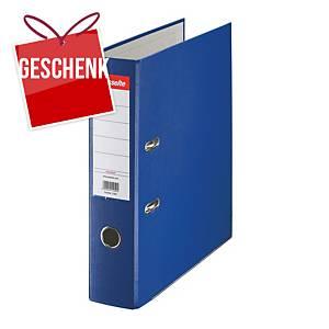 Esselte Economy Standardordner, halbplastisch, Rückenbreite 7,5 cm, blau