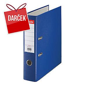 Pákový zakladač Esselte Economy, poloplastový, A4, šírka chrbta 7,5 cm, modrý