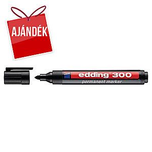 Edding 300 permanens marker, gömbölyű hegy, fekete