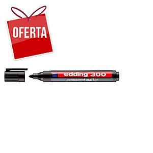 Marcador permanente Edding 300 - ponta cónica 1,5-3 mm - preto