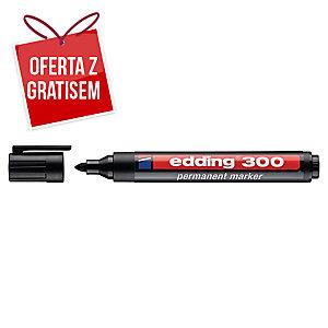 Marker permanentny EDDING 300, okrągła końcówka, czarny