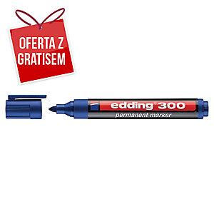 Marker permanentny EDDING 300, okrągła końcówka, niebieski