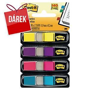 3M Post-it® 683 Záložky 12x44 mm, bal. 4 barvy po 35 lístcích