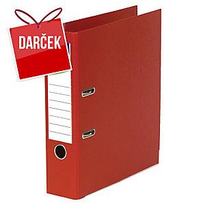 Pákový zakladač celoplastový Lyreco, šírka chrbta 8 cm, červený