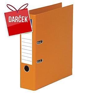 Pákový zakladač celoplastový Lyreco, šírka chrbta 8 cm, oranžový
