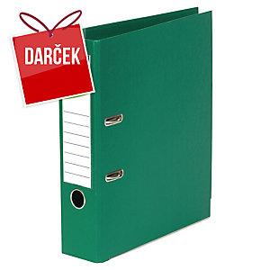 Pákový zakladač celoplastový Lyreco, šírka chrbta 8 cm, zelený