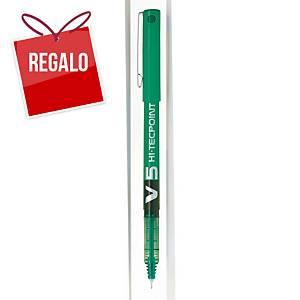 Roller retráctil de tinta líquida Pilot Hi-TecPoint V5 - verde