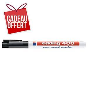 Marqueur permanent Edding 400 - pointe ogive fine - noir