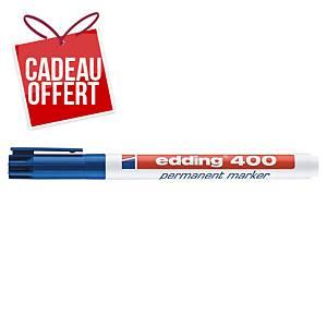 Marqueur permanent Edding 400 - pointe ogive fine - bleu