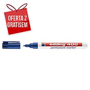 Marker permanentny EDDING 400, okrągła końcówka, niebieski