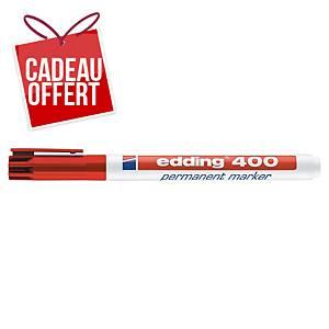 Marqueur permanent Edding 400 - pointe ogive fine - rouge