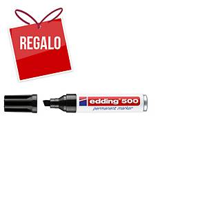 Marcador permanente Edding 500 - punta biselada 2-7 mm - negro