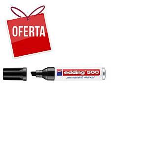 Marcador permanente Edding 500 - ponta em bisel 2-7 mm - preto