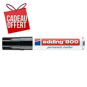 Marqueur permanent Edding 800 - pointe biseautée 4 à 12 mm - noir