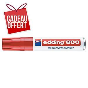 Marqueur permanent Edding 800 - pointe biseautée 4 à 12 mm - rouge