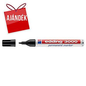 Edding 3000 permanens marker, gömbölyű hegy, fekete