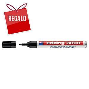 Marcador permanente Edding 3000 - punta cónica 1,5-3 mm - negro