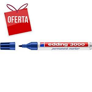 Marcador permanente Edding 3000 - ponta cónica 1,5-3 mm - azul