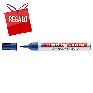 Marcador permanente EDDING 3000 color azul