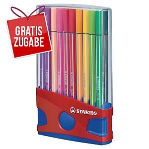 Faserschreiber Schwan Stabilo Pen 68, Strichstärke: 1mm, 20er Etui