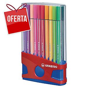 Pack de 20 marcadores de ponta de fibra STABILO PEN 68