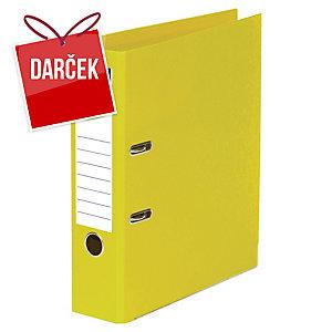 Pákový zakladač celoplastový Lyreco, šírka chrbta 5 cm, žltý