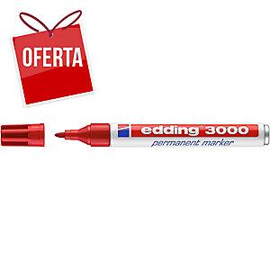 Marcador permanente EDDING 3000 cor vermelha