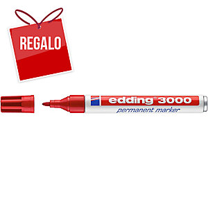 Marcador permanente EDDING 3000 color rojo