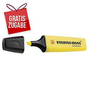 Textmarker Stabilo Boss Original 70/24, Strichstärke: 2-5mm, nachfüllbar, gelb