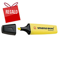 Marcador fluorescente color amarillo STABILO BOSS
