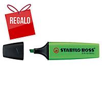 Marcador fluorescente color verde STABILO BOSS