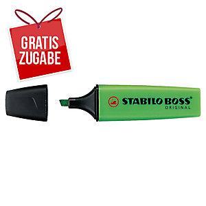 Textmarker Stabilo Boss Original 70/33, Strichstärke: 2-5mm, nachfüllbar, grün