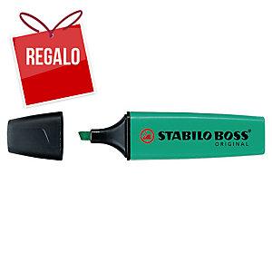 Marcador fluorescente color turquesa STABILO BOSS