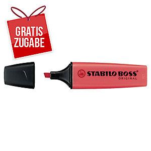 Textmarker Stabilo Boss Original 70/40, Strichstärke: 2-5mm, nachfüllbar, rot