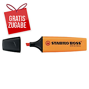 Textmarker Stabilo Boss Original 70/54, Strichstärke: 2-5mm, nachfüllbar, orange