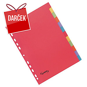 Rozdeľovače 12-dielne kartónové Lyreco A4 farebné