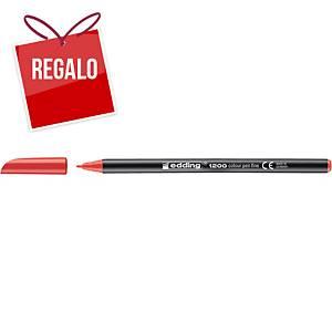 Rotulador Edding 1200 - rojo