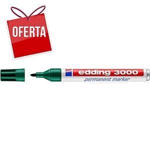 Marcador permanente Edding 3000 - ponta cónica 1,5-3 mm - verde