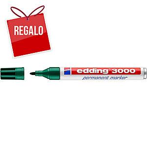 Marcador permanente EDDING 3000 color verde