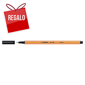 Rotulador de punta de fibra STABILO POINT 88 color negro