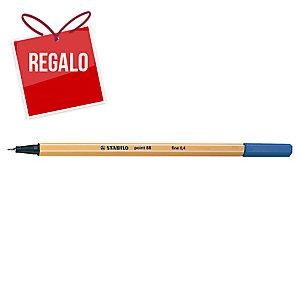 Rotulador de punta de fibra STABILO POINT 88 color azul