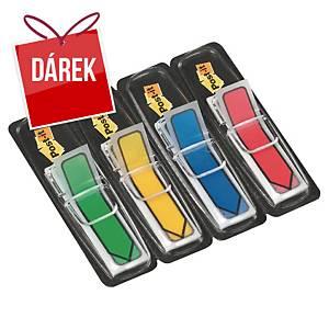 3M Post-it® 684 Záložky-šipky 12x44 mm, bal. 4 barvy v zásobníku po 24 lístcích