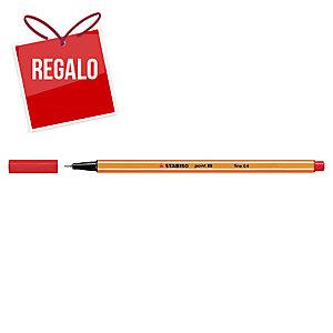 Rotulador de punta de fibra STABILO POINT 88 color rojo
