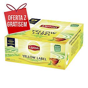 Herbata czarna LIPTON Yellow Label, 100 torebek